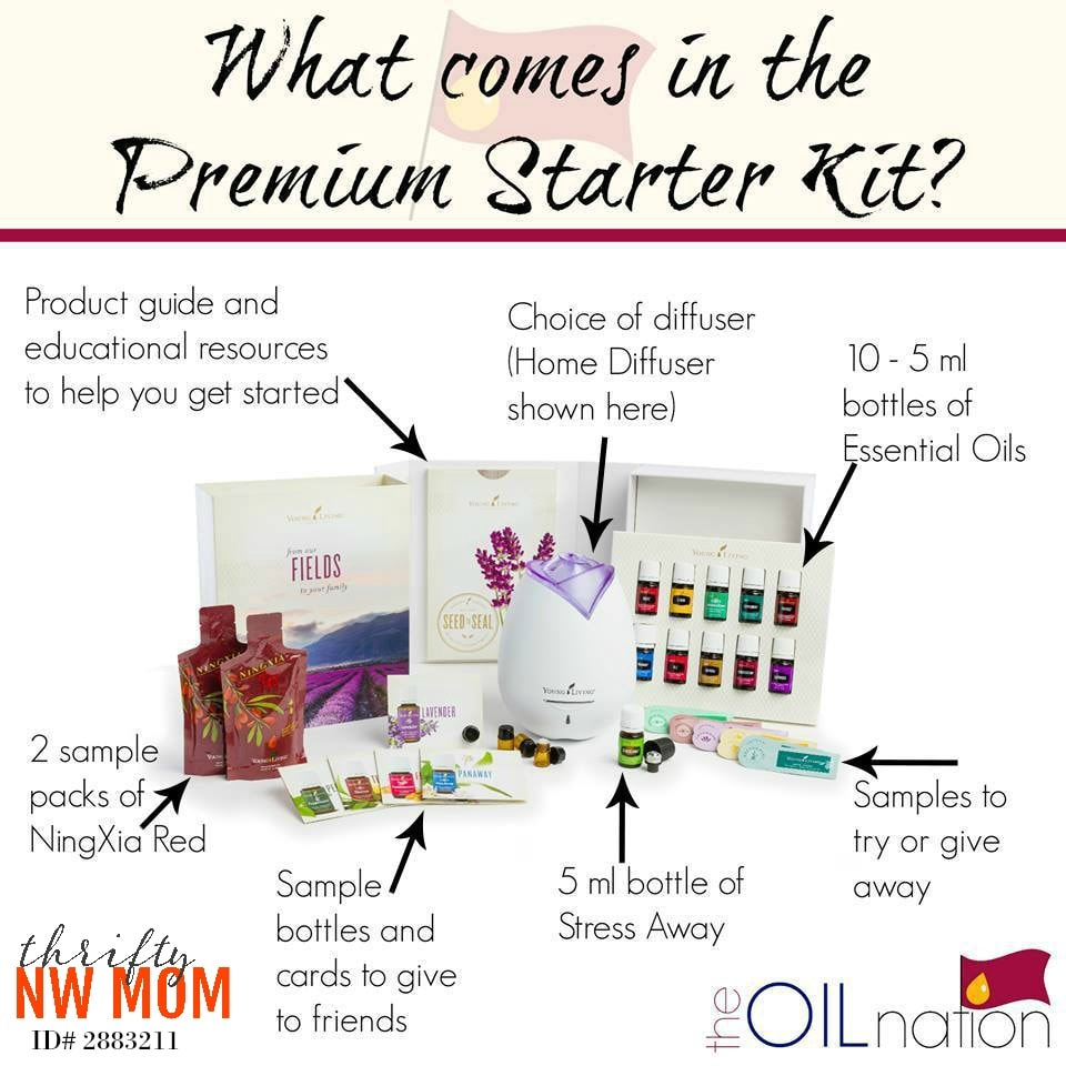 What comes in Young LIving Premium Starter Kits