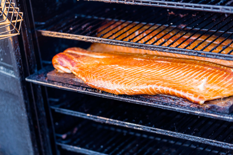 Smoked Salmon At The Local Christmas Market
