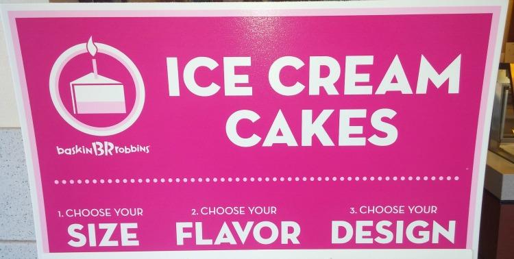 Ice Cream Cakes Sign
