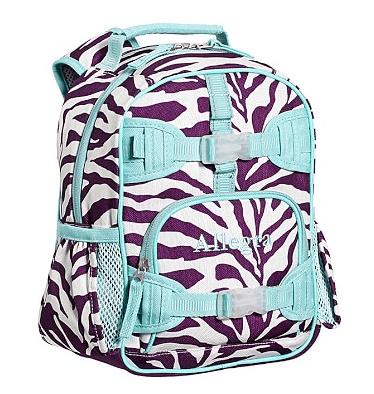 Mackenzie Plum Zebra Backpacks