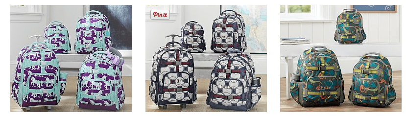 Pottery Barn Kids Discount Backpacks & Lunch Bags