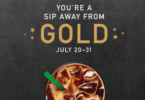 Starbucks Rewards Earn Gold Status for a Year with a Purchase by July 31