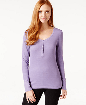 Alfani Thermal Henley Shirt
