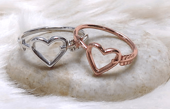 Sterling Silver Heart and Arrow Ring
