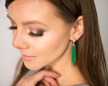 Tinaya Long Geometric Earrings