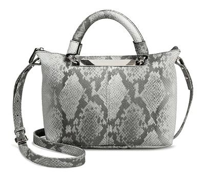 Women's Snake Skin Print Satchel Handbag