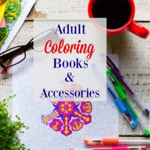 Adult Coloring Books Gift Guide of coloring books and accessories