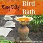 Easy DIY Bird Baths For Your Garden