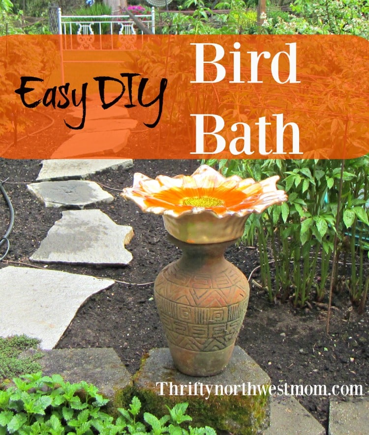 Put together this easy and frugal DIY Bird Bath for a fraction of the cost and enjoy birds year round in your yard.