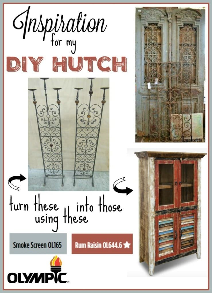 #Bringonthecolor – DIY Hutch Makeover Plans using Olympic Paints!