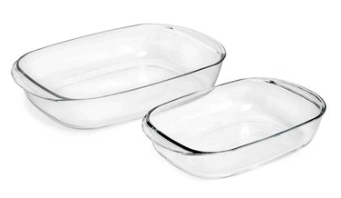 Duralex USA OvenChef Rectangular Tempered Glass Roasting Pans