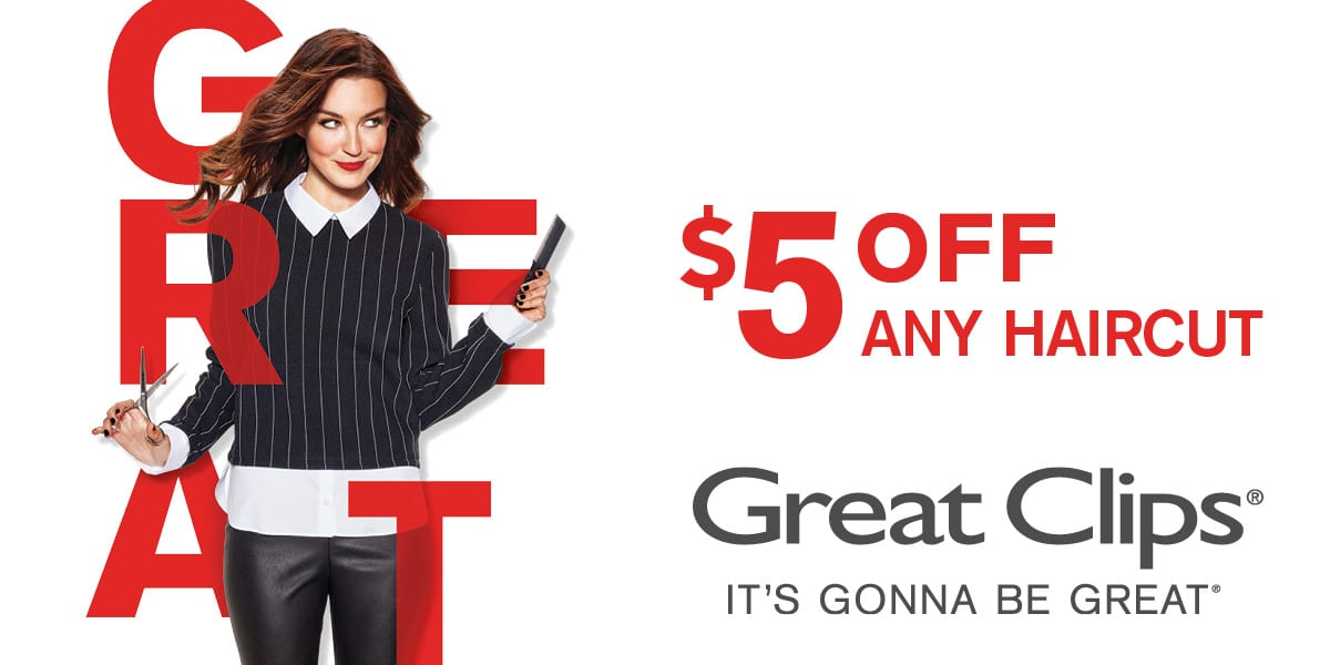 Hair Cuts – $5 off Coupon At Great Clips!