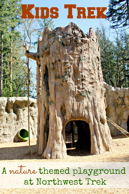 Kids Trek at Northwest Trek - a review of this new nature themed playground