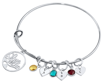Mother's Bangle with Birthstones