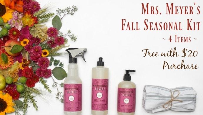 Natural Cleaning Discounts Mrs Meyers Fall Seasonal Kit