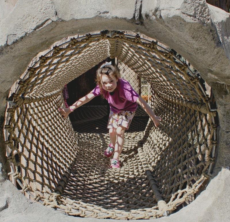 Net Tunnel at Kids Trek