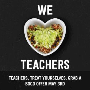 Chipotle Teacher Appreciation Deal