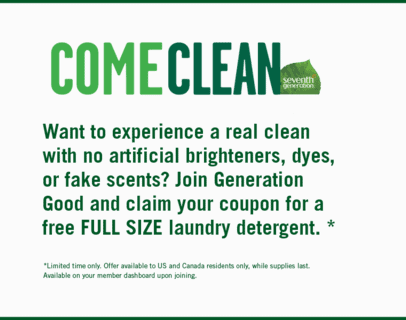 Seventh generation laundry detergent free