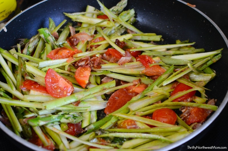 Veggies for Bacon Asparagus Tomato Pasta