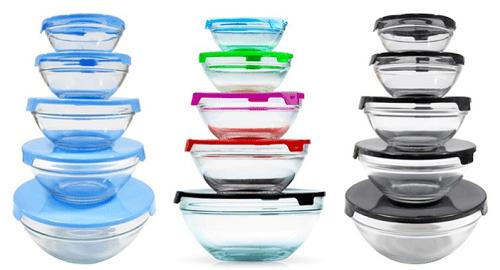 Glass Bowl Set (10-Piece)