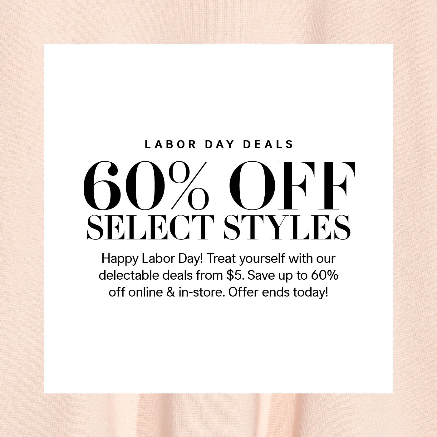 H&M Labor Day Sale