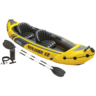 2-Person Inflatable Kayak (w/ Aluminum Oars / Air Pump) – Low Price!