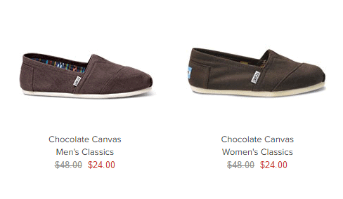 Toms shoes on sale