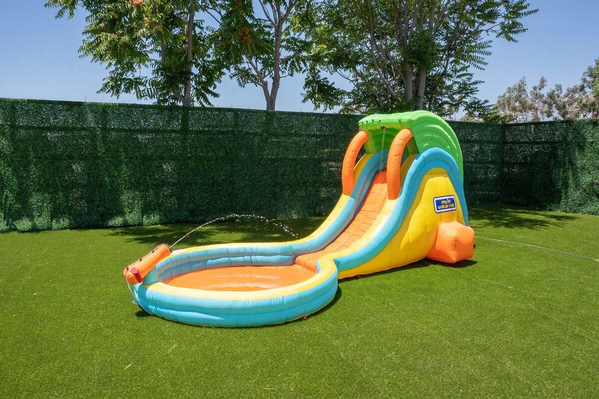 blow up water slide
