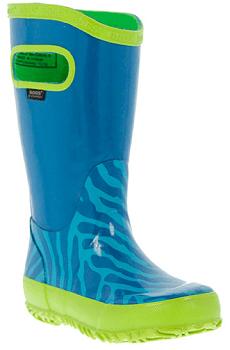 Aqua Zebra Rain Boot