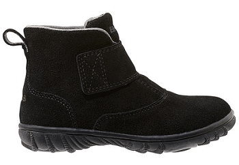 Dark Black Wall Ball Suede Boot