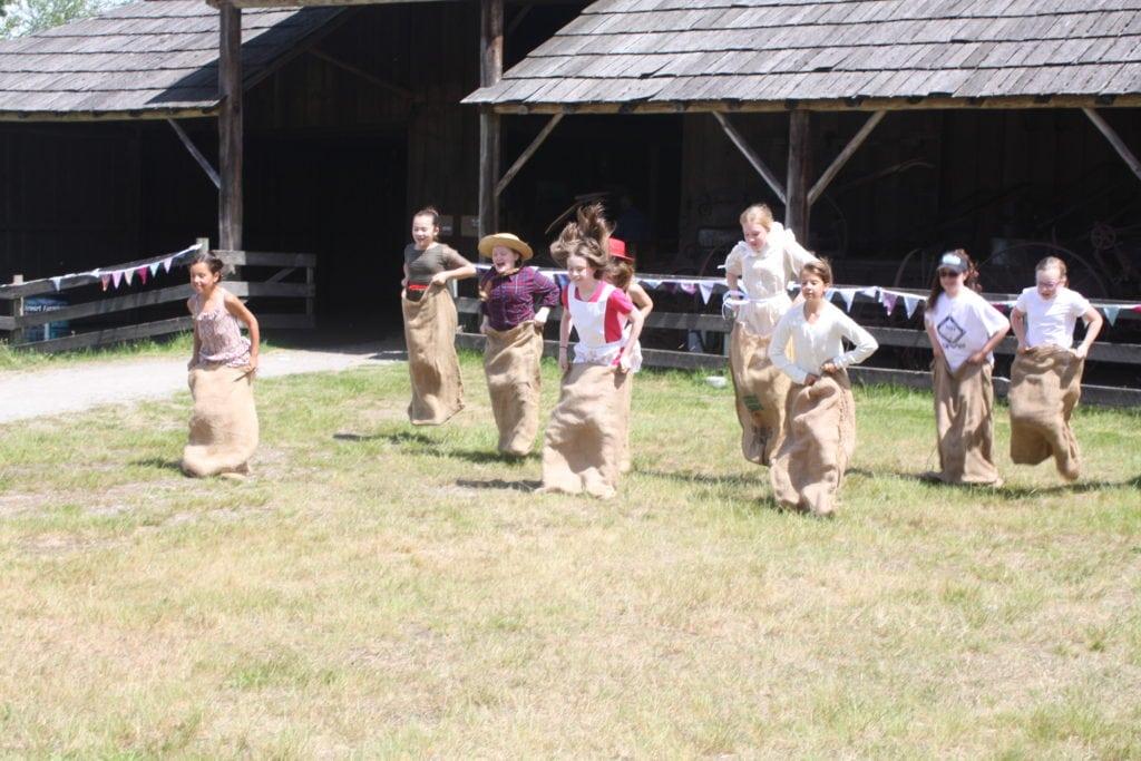 Potato Sack Races at the historic Stewart Farm