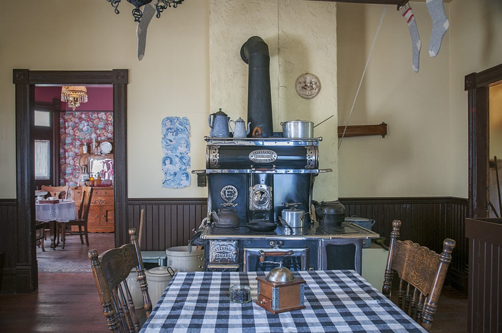 Kitchen at the historic Stewart Farm