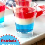 Patriotic Red White & Blue Jell-O Cups to make 4th of July Firecracker