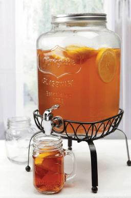 Glass Mason Jar 2 Gallon Dispenser