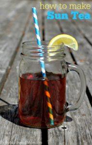 Sun Tea - Frugal Option for Summertime