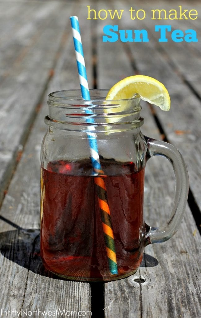 Try Sun Tea as a simple and frugal drink for the summertime! A fraction of the cost of iced tea which is perfect if you are serving a crowd for a picnic.