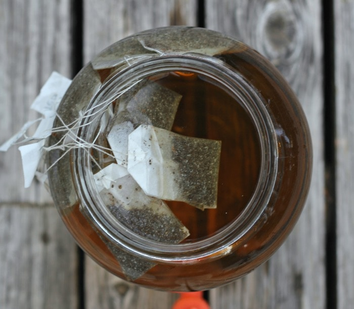 Sun Tea using Black Tea, Water & Sun