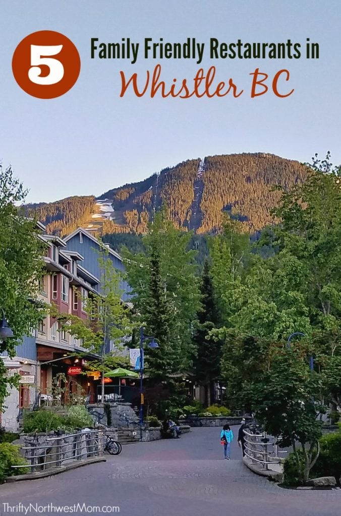 Check out this list of 5 Family Friendly Whistler BC Restaurants + ways to save on food on your Whistler vacation