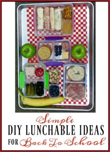 Simple DIY Lunchables for Back to School