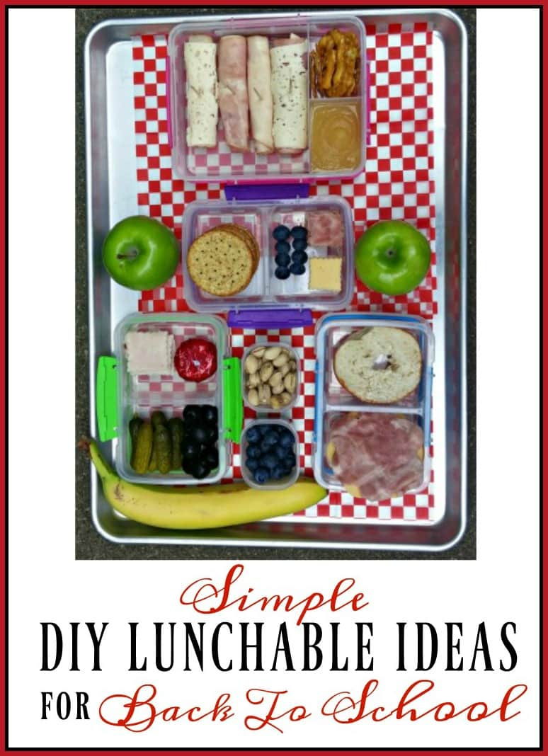 Try these four simple DIY Lunchable ideas for back to school.