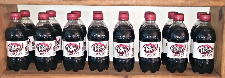 Diet Dr Pepper bottles