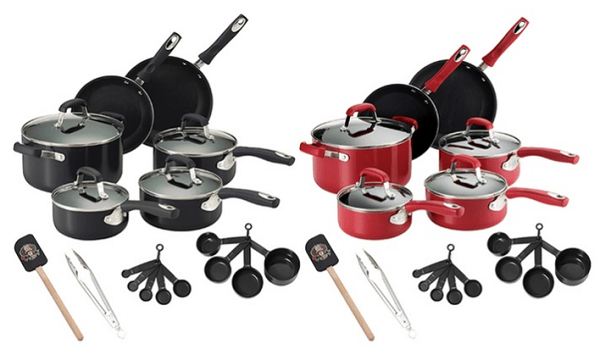 Guy Fieri Nonstick Aluminum Cookware Set (21-Piece)