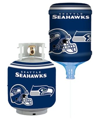 NFL Seahawks Bottle Skinz 5-Gallon Water Cooler/Propane Tank Cover Cover $9.99!