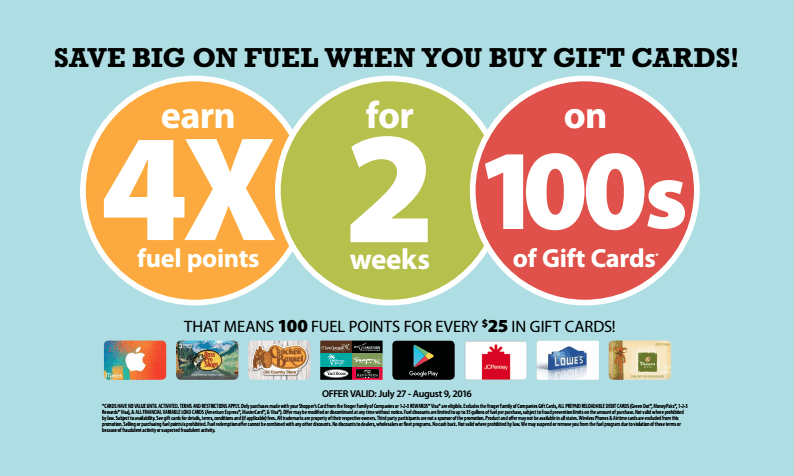 Fred Meyer 4X Fuel Rewards