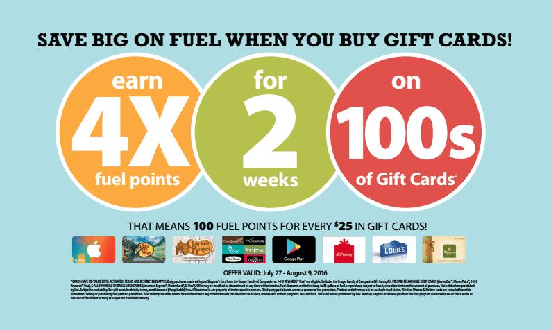 Fred Meyer 4X Fuel Rewards