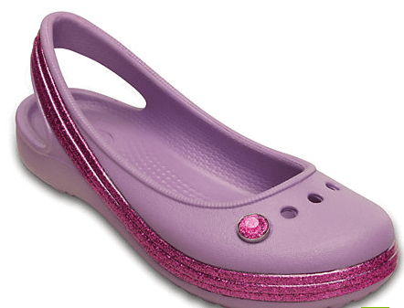 Genna Sparkle Band Flat Crocs