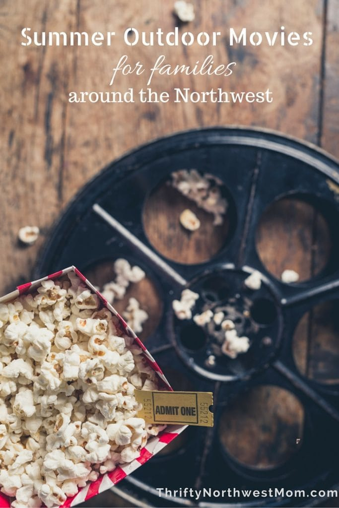 Find a list of Summer Outdoor Movies for families in Seattle, Portland and around the Northwest