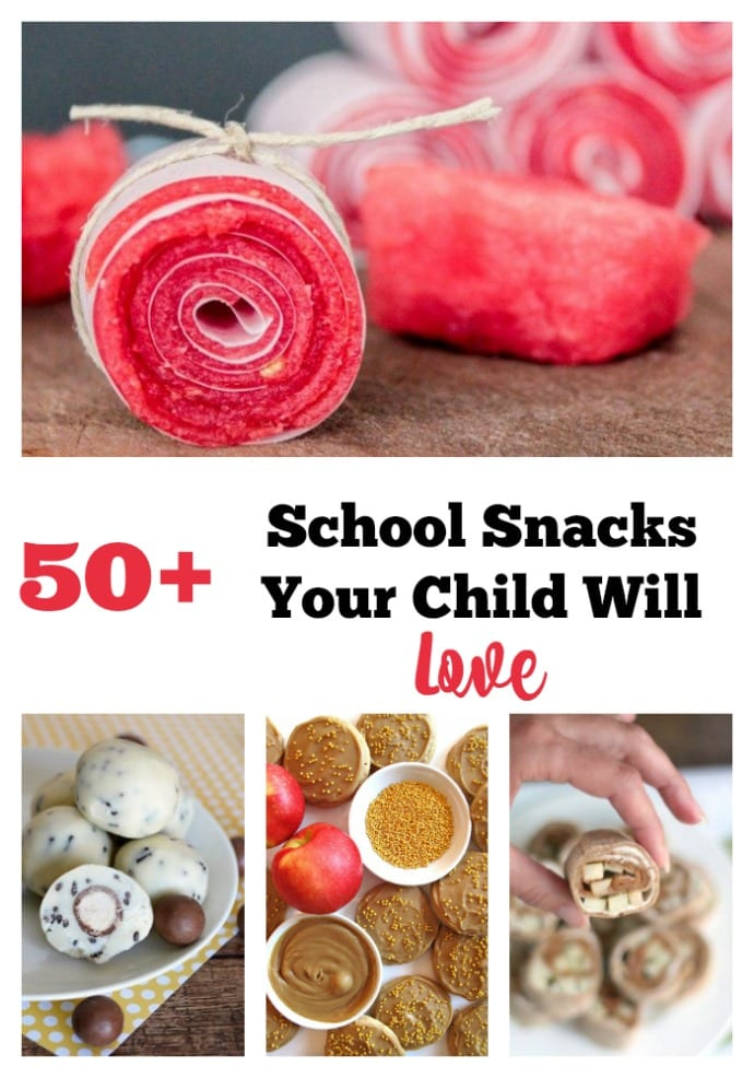 Here are 50+ ideas of Back to School Snacks that your Child Will Love for their lunch or an after school snack!