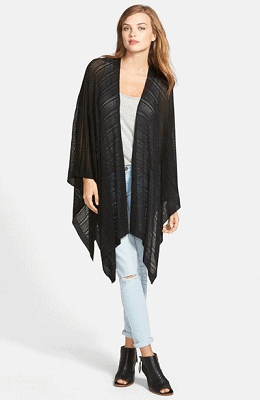 Echo Pointelle Knit Cape