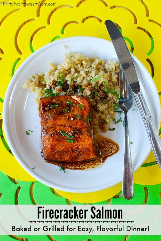 Firecracker Salmon is a flavorful dish that can be baked or grilled for an easy weeknight dinner